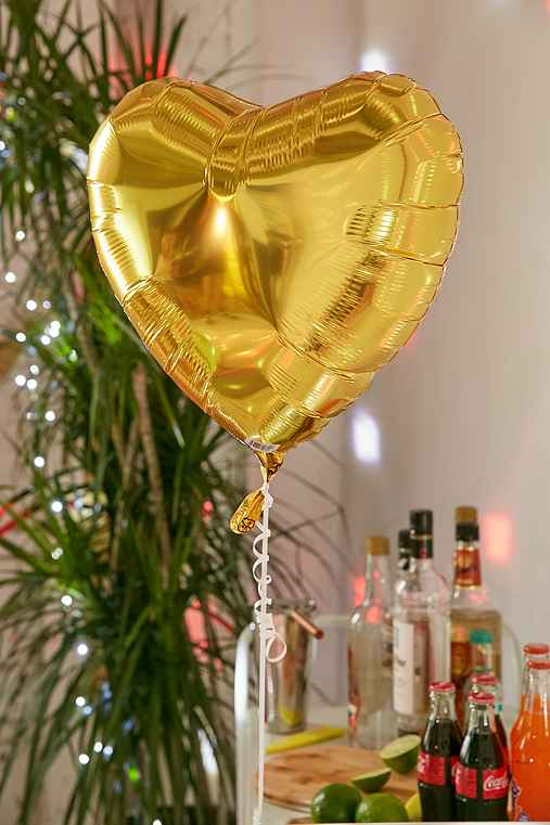 Foil Heart 18 Inch Party Balloon,GOLD,ONE SIZE