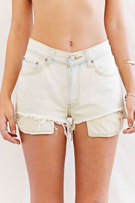 Urban Renewal Recycled High/Low Denim Short