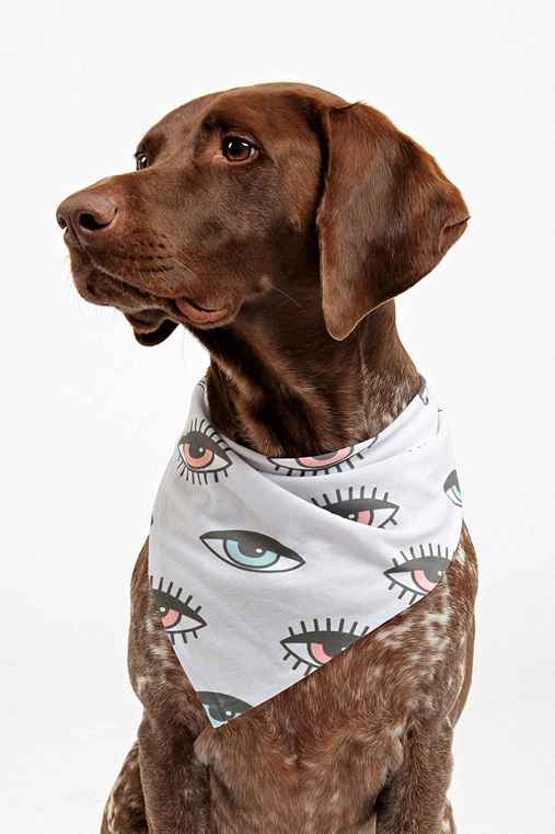 Wesley Bird For DENY His 'N Hers Pet Bandana,WHITE,ONE SIZE