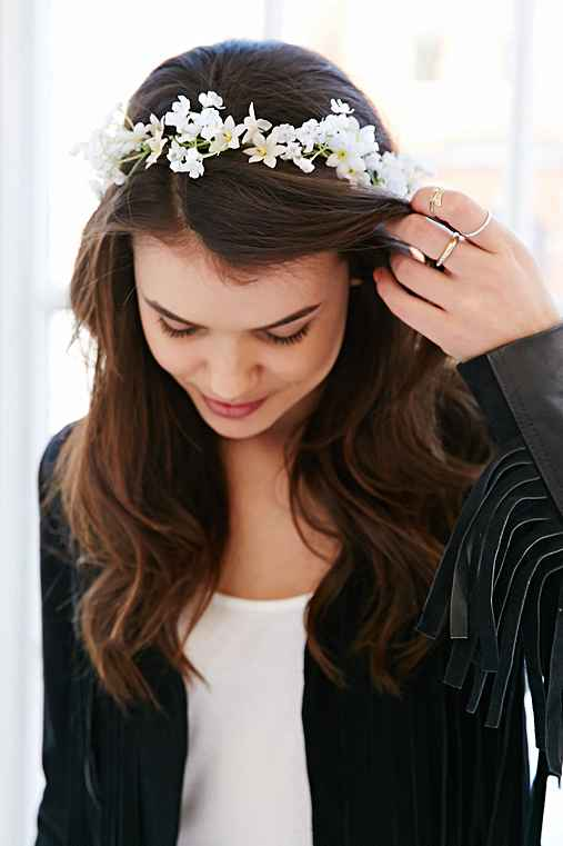 Island Falls Flower Crown,WHITE,ONE SIZE