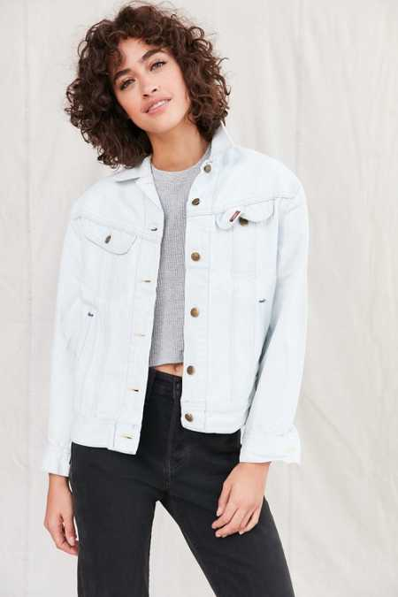Urban Renewal Remade Bleach-Out Denim Trucker Jacket