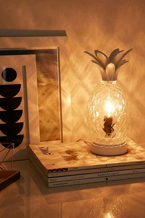 Pineapple Table Lamp,WHITE,ONE SIZE