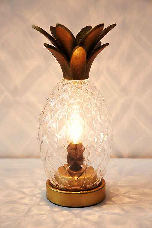 Pineapple Table Lamp,CLEAR,ONE SIZE