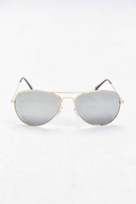 Icon Silver Mirror Aviator Sunglasses