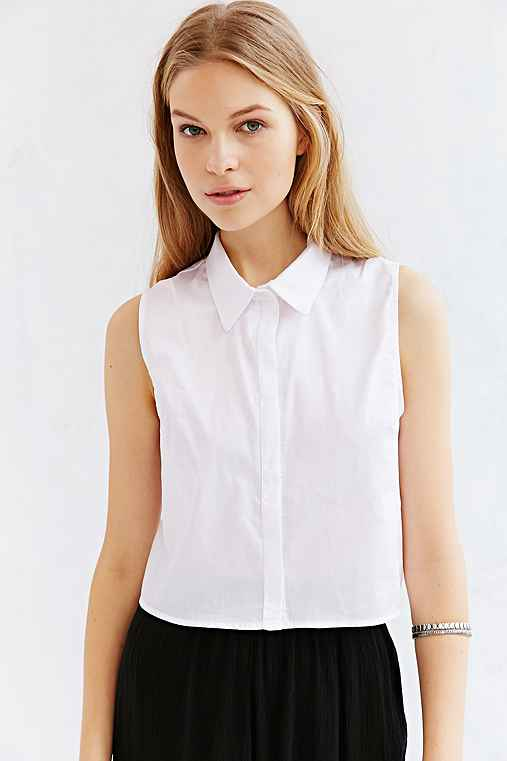 Bdg Sleeveless Collared Top