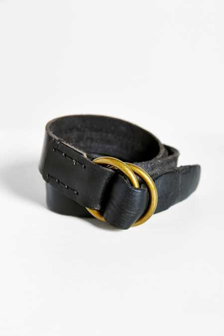 BDG Tumbled Leather O-Ring Belt