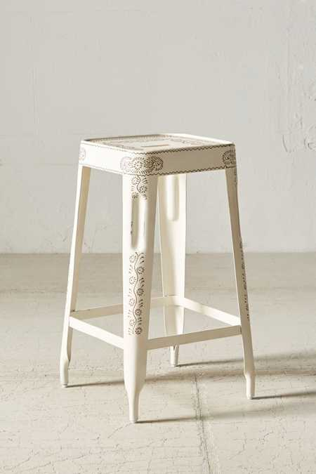 Painted Industrial Stool