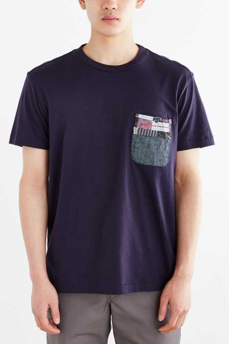 Monitaly Split Hem Patchwork Tee