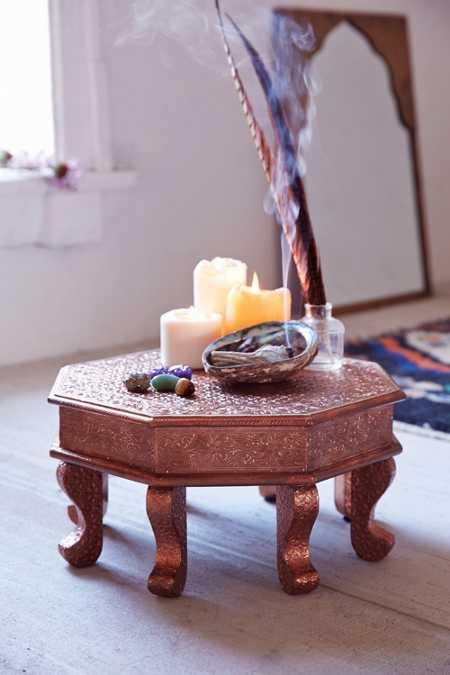 copper stamped mini stool. Black Bedroom Furniture Sets. Home Design Ideas