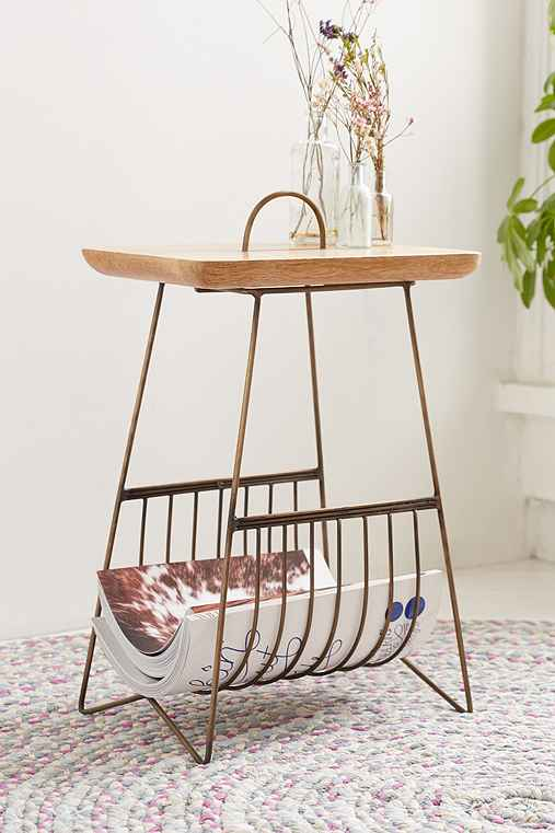 Wire Side Table,BRONZE,ONE SIZE