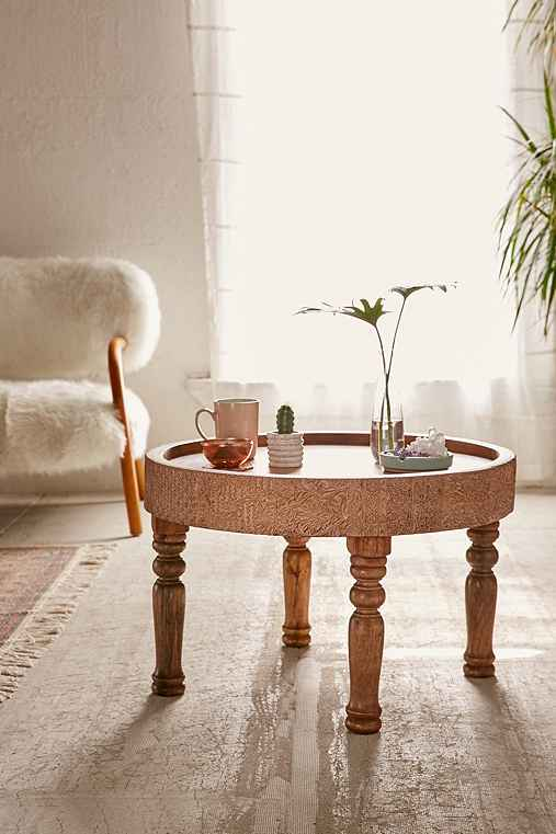 Hope Round Coffee Table,BROWN,ONE SIZE