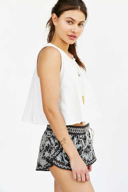 Ecote Embroidered Runner Short