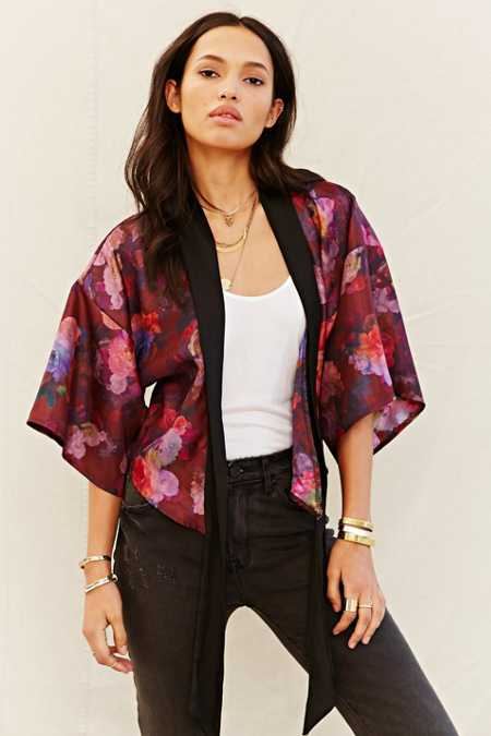 One & Only X Urban Renewal Tie-Front Kimono Top