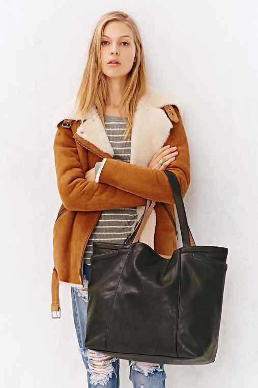 BDG Large Reversible Pocket Tote Bag,BLACK,ONE SIZE