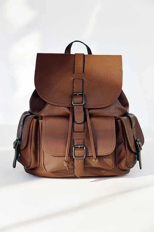 BDG Classic Pocket Backpack,BROWN,ONE SIZE