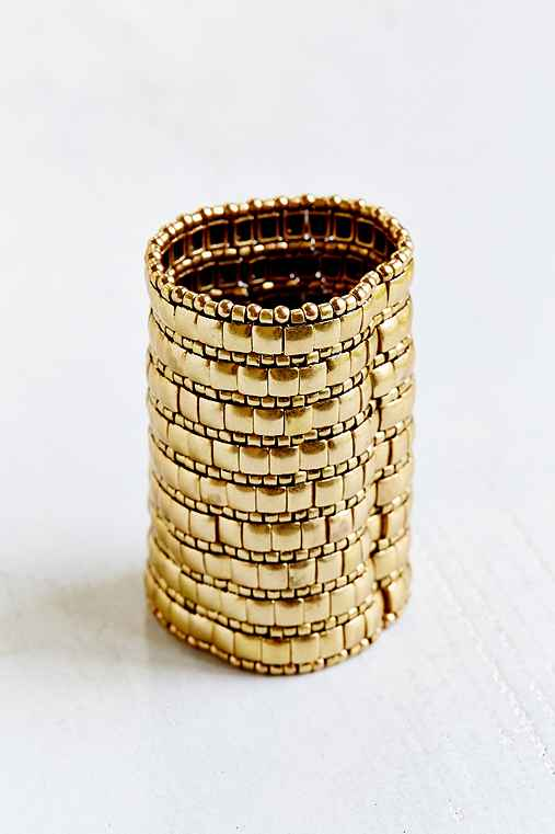 Heavy Metal Stretch Cuff Bracelet