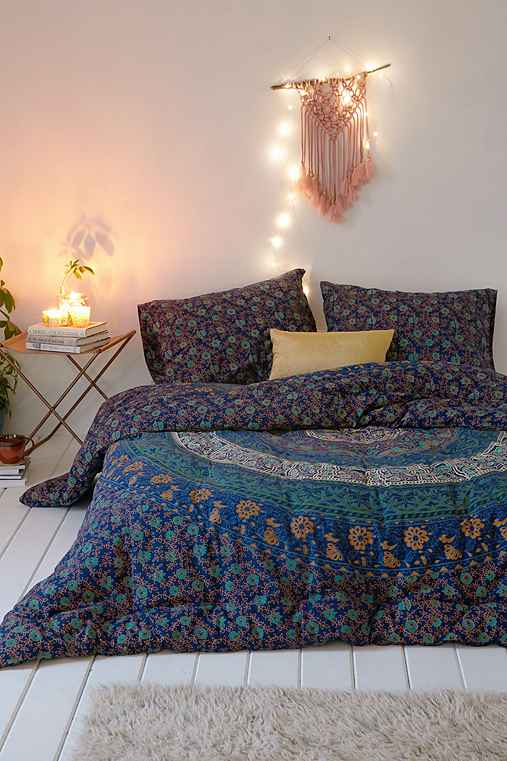 Magical thinking blue medallion comforter urban outfitters Magical thinking bedding
