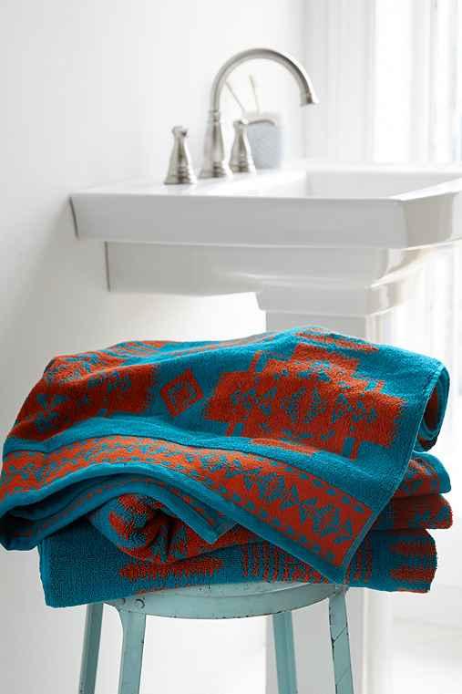 Pendleton Jacquard Towel,TURQUOISE,ONE SIZE
