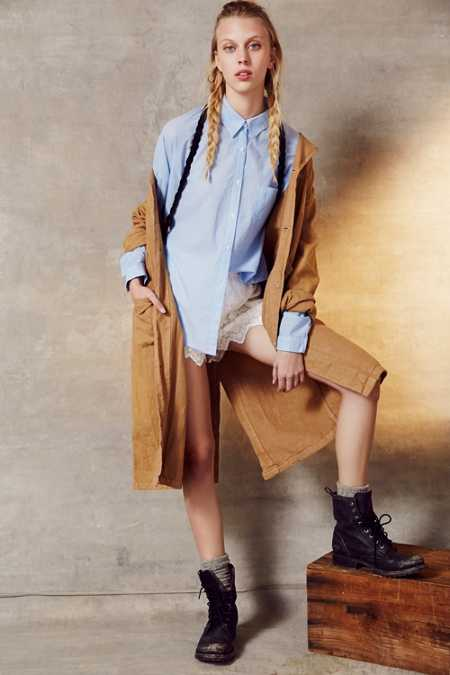 Urban Renewal Remade XL Linen Shop Coat