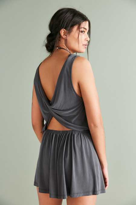 Silence + Noise Knit Twist-Back Romper