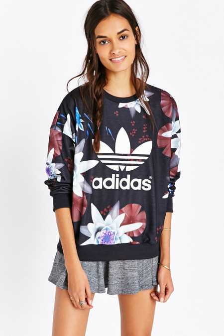 Adidas Originals Lotus Print Sweatshirt