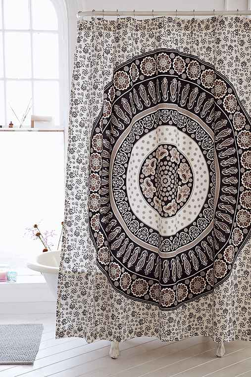 magical thinking paisley medallion shower curtain. Black Bedroom Furniture Sets. Home Design Ideas