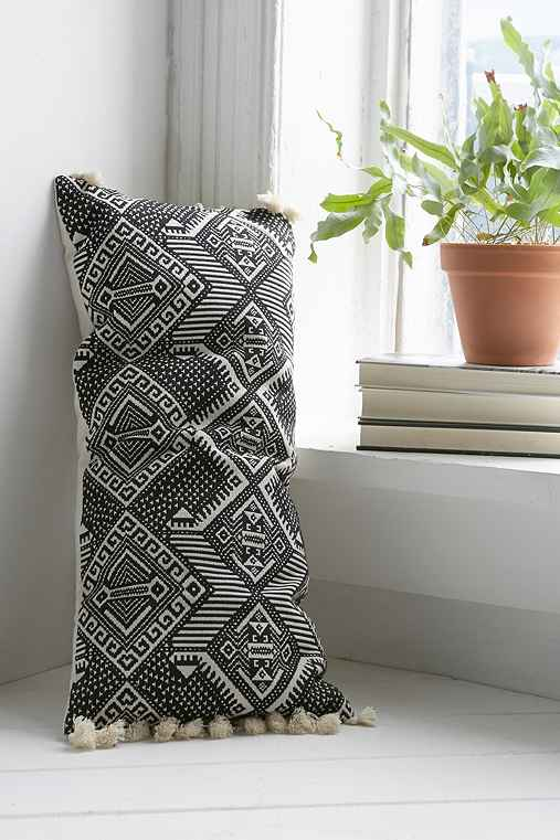 Magical Thinking Black + White Rectangle Pillow,BLACK & WHITE,ONE SIZE
