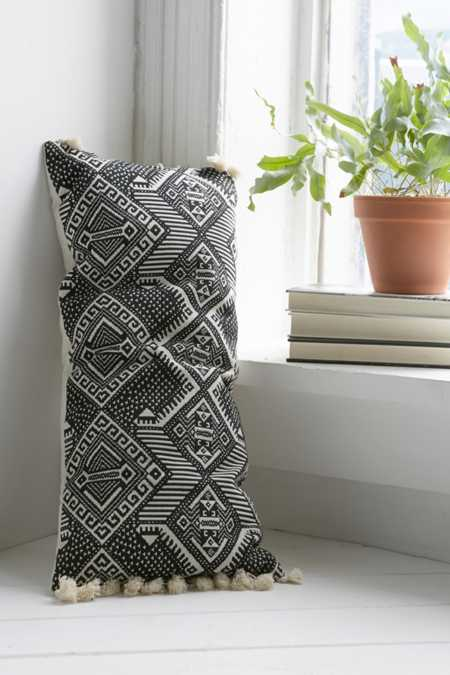 Magical Thinking Black + White Rectangle Pillow