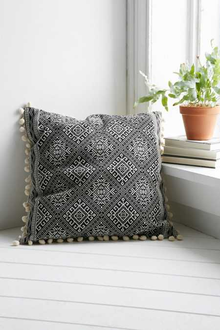 Magical Thinking Black + White Square Pillow