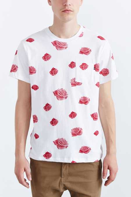 OBEY Roses Pocket Crew Neck Tee