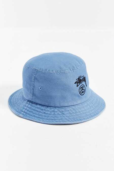 Stussy Stock Lock Denim Bucket Hat