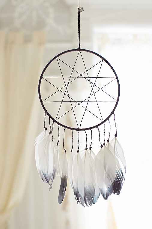 Magical Thinking Double Star Dreamcatcher,CHARCOAL,ONE SIZE