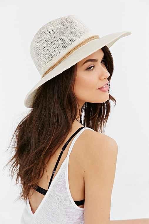 Oversized Nubby Panama Hat,NUDE,ONE SIZE
