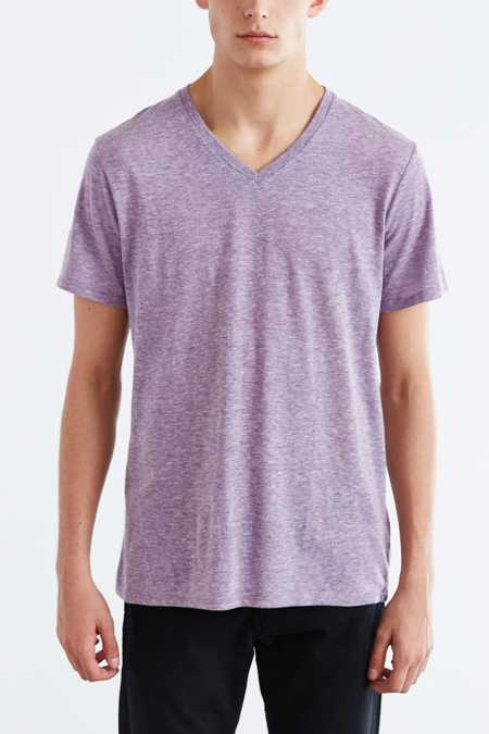 BDG Standard-Fit Tri-Blend V-Neck Tee