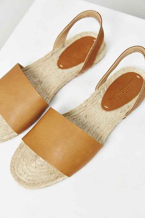 Soludos Slingback Espadrille Sandal,TAN,10