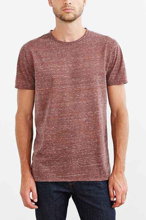BDG Galaxy Standard-Fit Crew Neck Tee,CHOCOLATE,XS