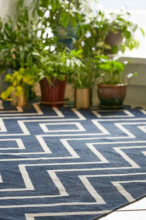 Assembly Home Diamante Printed Rug,NAVY,5X7