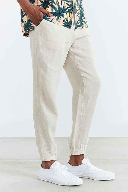 Shades Of Grey By Micah Cohen Linen Jogger Pant