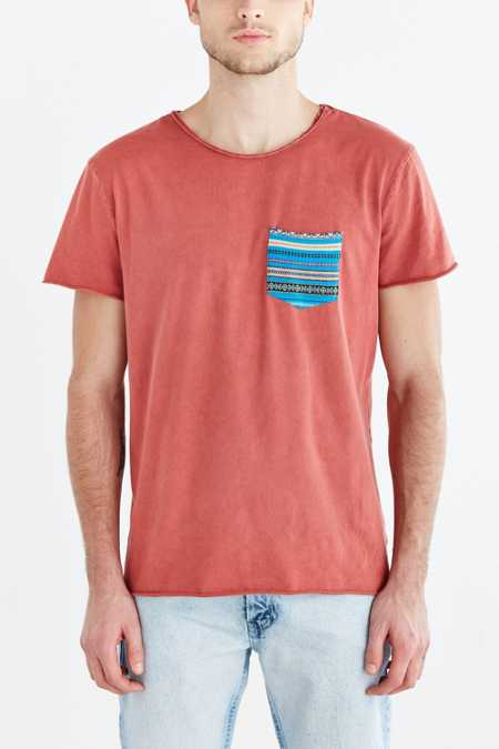 Koto Raw Mineralized Jacquard Pocket Tee