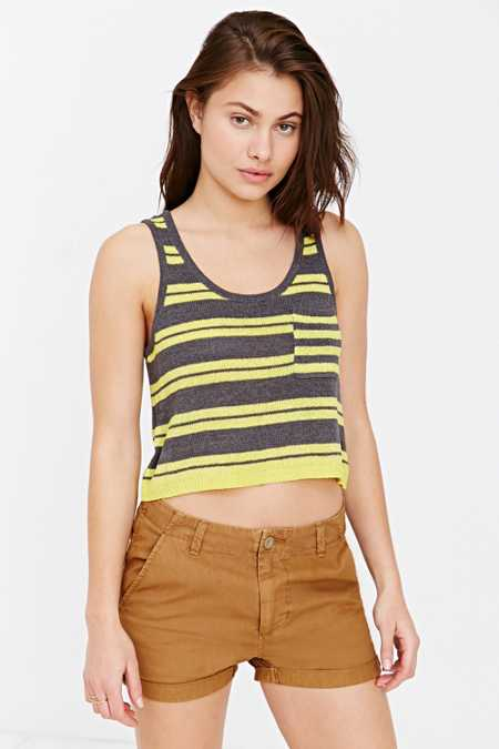 BDG Striped Pocket Tank Top