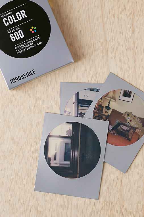 Impossible Round Frame Silver Film For 600,SILVER,ONE SIZE