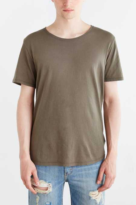 BDG Standard-Fit Pigment-Dyed Wide Neck Tee