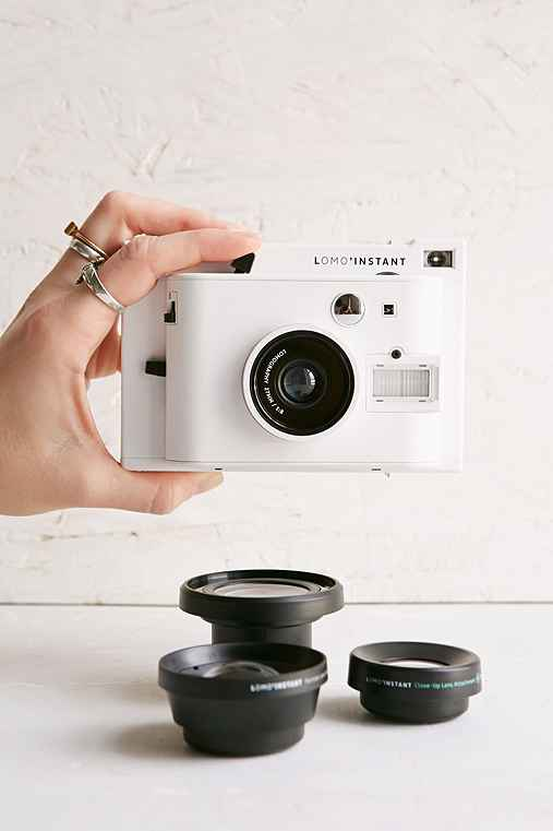 Lomography Lomo'Instant Camera And Lens Set,WHITE,ONE SIZE