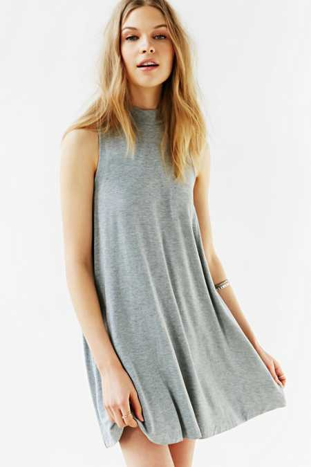 Silence + Noise Mock-Neck Mini Swing Dress