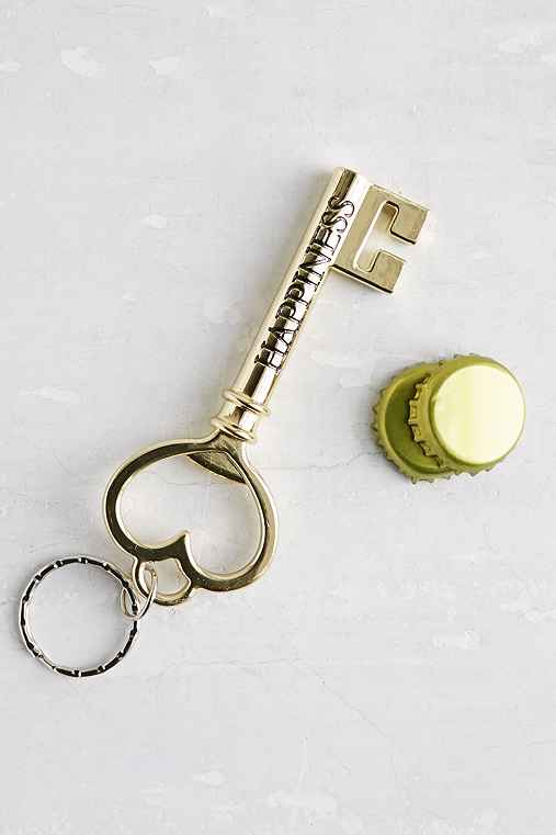 key to happiness bottle opener. Black Bedroom Furniture Sets. Home Design Ideas
