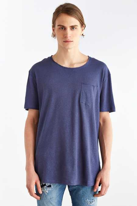 Feathers Cotton Linen Scoop Neck Tee