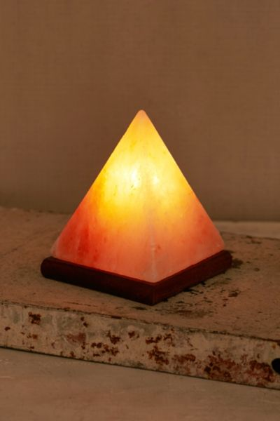 Pyramid Salt Lamp Urban Outfitters : Pyramid Salt Rock Lamp - Urban Outfitters