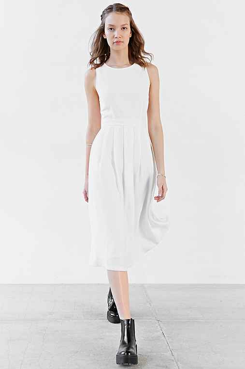 Silence + Noise Pleated Skirt Modern Midi Dress