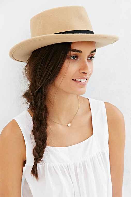 Austen Teardrop Panama Hat,TAN,ONE SIZE