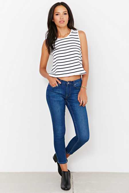 Cheap Monday Cropped Prime Denim - Sonic